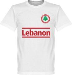 Witte merkloos sans marque libanon logo t shirt