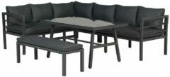 Antraciet-grijze Garden Impressions Blakes lounge diningset - 4 delig - donker grijs