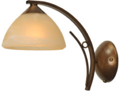 Bronze Wandlamp Bolzano bruin gepatineerd smeedijzer