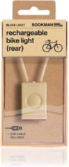 Bookman Block Fietsverlichting - LED Achterlicht - Oplaadbaar via USB - Compact Design - Beige
