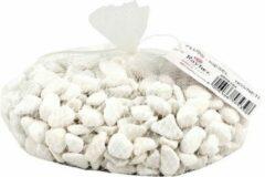 Rayher hobby materialen 8x zakjes witte kiezelsteentjes 1x kilo - Decoratie steentjes voor o.a aquarium of bloempot