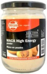 Terrasana Raw maca high energy poeder in glas 300 Gram
