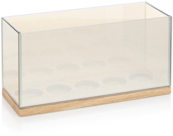 Afbeelding van Gouden &k amsterdam Reflection Waxinelichthouder Glas 13,5 cm - Cinq