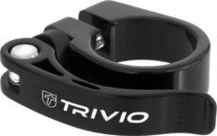 Trivio Zadelpenklem alu zwart 34.9mm quick release