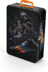 Zwarte Theo Klein HOT WHEELS metalen koffer, groot