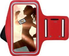 Pearlycase Huawei Mate 40 Pro Hoesje - Sportband Hoesje - Sport Armband Case Hardloopband Rood