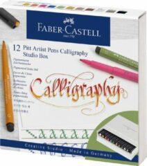 Faber Castell Tekenstift Faber-Castell Pitt artist kalligrafieset Studiobox 12 stuks