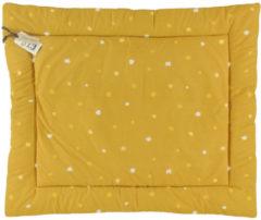 Briljant Baby Sunny boxkleed stip 80x100 cm okergeel