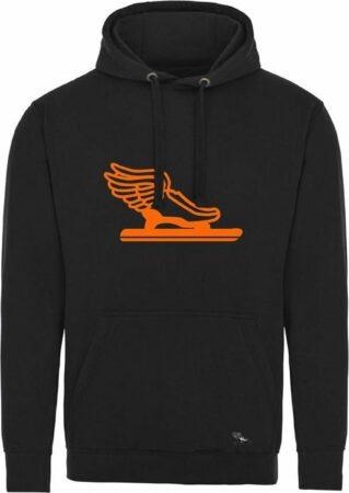 Afbeelding van Pattinaggio Schaatsen hoodie Zwart Fluo Oranje