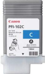 Blauwe Canon PFI-102C - Inktcartridge / Cyaan