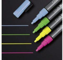 Sigel GL179 Krijtmarker Roze, Groen, Geel, Blauw 1 mm 4 stuks/pack