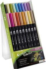 Fuchsia Alles Voor Kleuren Tombow dual brush pen abt, 18-colours-set, secondary colours