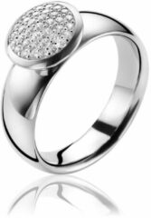 ZINZI zilveren ring wit ZIR1151