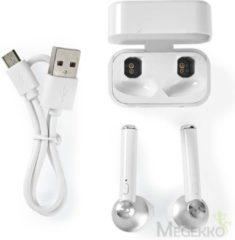 Nedis HPBT3052WT Volledig Draadloze Bluetooth®-oordopjes 3 Uur Afspeeltijd Spraakbediening Charging Case Wit