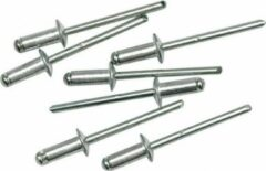 Zilveren ABC-Led Popnagels - 4.8x12.7mm - 50 stuks