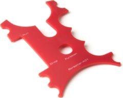 X2 Screamer Beetmelder Frontje - Rood - 4 stuks