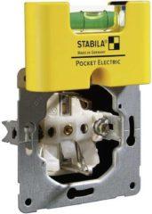 Kunststof miniformaat waterpas met speciale voorziening voor elektriciens Stabila Pocket Electric