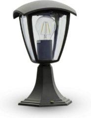 Zwarte INTOLED Tuinlamp staand LED Aluminium Vierkant E27 IP44