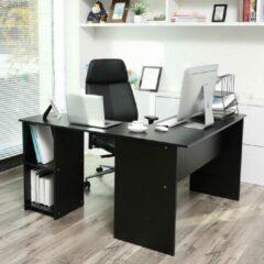 MIRA Home Hoekbureau - zwart - Laptoptafel - Computerbureau - Bureautafel - Kantoor - 140x120x75