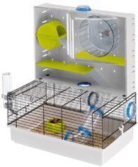 Ferplast Hamsterkooi Olimpia - Dierenverblijf - 46x29.5x54 cm Wit Oranje