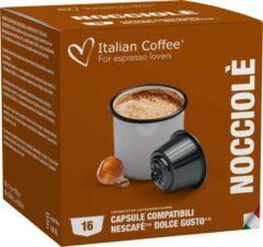 Italian Coffee - Hazelnoot Koffie - 16x stuks - Dolce Gusto compatibel