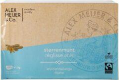 Morocco Mint Thee Grote verpakking 60 zakjes 2 gram Alex Meijer Fair Trade
