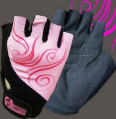 Scitec Nutrition - Trainingshandschoenen - Workout Gloves - Vrouwen - Girl Power - Pink-Zwart - M