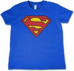 Superman logo t-shirt voor jongens/meisjes - Film/serie merchandise voor kinderen 152 (XL 12/14)