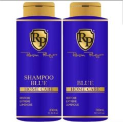 KIT SHAMPOOING & PATINE BLUE HOME CARE ROBSON PELUQUERO 2 X 300 ML