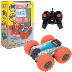 Ninco auto RC Stunt junior 13 cm rubber oranje 2-delig