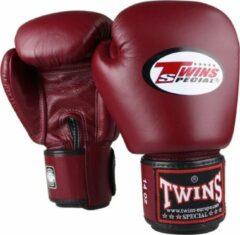 Donkerrode Twins Special - (kick)bokshandschoenen - BGVL3 - Wijnrood - 16oz