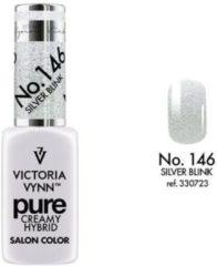 Roze Gellak Victoria Vynn™ Gel Nagellak - Gel Polish - Pure Creamy Hybrid - 8 ml - Silver Blink - 146