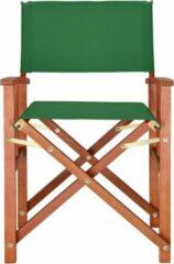 Merkloos / Sans marque Regiseursstoel groen, klapstoel, vouwstoel, duurzaam, eucalyptushout, waterafstotend stof, klapstoel
