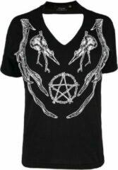 Restyle Top -3XL- Antlers pagan Zwart