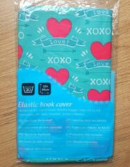 Groene Demo Creations elastische boekenkaft XOXO