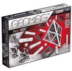 Zwarte Selecta Spel en Hobby Geomag Panels Black&White 68 delig