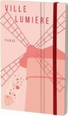 Stifflexible notitieboek Paris 13 x 21 cm papier roze