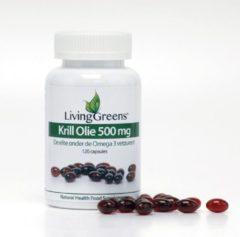 Groene Livinggreens- Krill olie- 120 capsules-krillolie- krill olie capsules-uit garnalen-100% puur-krillolie 100%