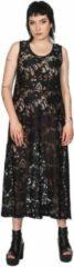 Banned Lange jurk -XL- DOOMED ROMANTIC LONG LINE LACE Zwart