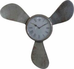 Mbc-light.nl Propellor / Schoep wandklok 60cm vintage nikkel