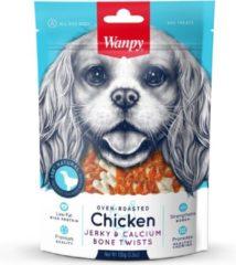 Wanpy | Chicken jerky & Calcium Bone Twists | Voordeelbundel van 3 zakjes | Hondensnack