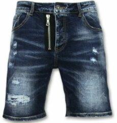 Enos Spijkerbroek Kort Heren - Driekwart Broek Mannen - J975 - Blauw Korte Broek Short Jeans Maat W32