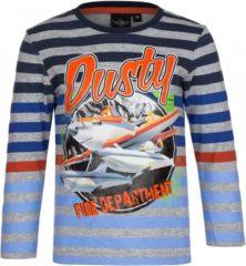 Grijze Bellatio Planes t-shirt grijs gestreept 104