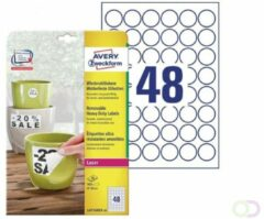 Avery Avery afneembare weerbestendige etiketten diameter 30 mm,wit, doos van (L4716REV-20)