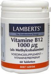 Lamberts Vitamine B12 1000 mcg als Methylcobalamine 60 tabletten