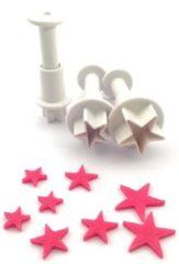 Witte Dekofee Mini Plungers Stars set/3