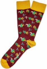 Groene Carnaval sokken 41/46 moustard london