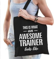 Shoppartners Kadotas This is what an awesome trainer looks like zwart katoen - cadeautas voor trainers
