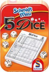 999 Games Schmidt mini - 5 Dice small Dobbelspel - reisspel