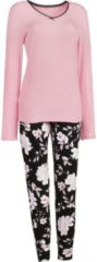 ESPRIT Schlafanzug Single-Jersey Esprit schwarz/rosa